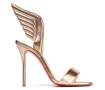 Samotresse 100 Metallic Leather Sandals Gold
