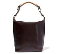 Woman Medium Crinkled-leather Shoulder Bag Merlot