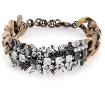 Burnished Gold-tone Crystal Bracelet Brass Size --