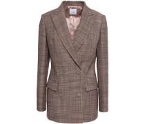 Double-breasted Wool-tweed Blazer Pastel Pink