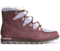 Sneakchic Nubuck And Felt Snow Boots Merlot