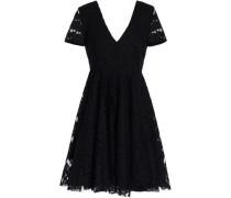Flared lace mini dress