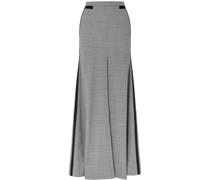 Merritt Grosgrain-trimmed Houndstooth Tweed Maxi Skirt