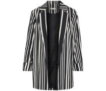 Neta striped cotton-blend jacket