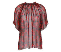 Molly Printed Silk-georgette Blouse Red
