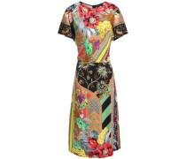 Printed Satin-crepe Dress Multicolor