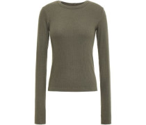 Ribbed Modal-blend Top Army Green