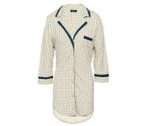 Printed Pima Cotton And Modal-blend Jersey Nightshirt Ivory