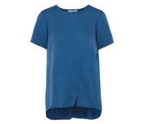 Silk-blend Jersey T-shirt Blue