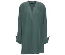 Silk Crepe De Chine Blouse Grey Green