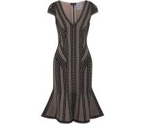 Fluted jacquard-knit dress