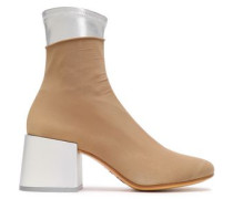 Stretch-knit Ankle Boots Sand