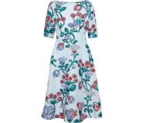 Flared cloqué-jacquard dress