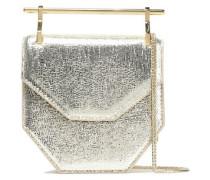 Amor Fati Metallic Lizarad-effect Leather Clutch Gold Size --
