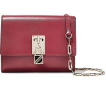 Leather Shoulder Bag Claret Size --