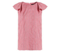 Embroidered gingham cotton top