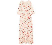Elizabeth Floral-print Silk Crepe De Chine Maxi Dress Pastel Pink