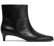 Agatha Leather Ankle Boots Black