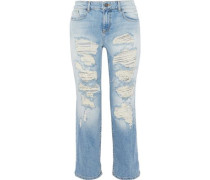 Scott cropped distressed boyfriend jeans