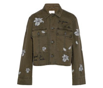 Cosette embroidered cotton-twill jacket