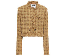 Frayed Bouclé-tweed Jacket Sand