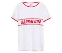 Baracuda Printed Cotton-jersey T-shirt White