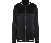 Satin-crepe bomber jacket