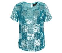 Woman Anita Sequined Chiffon Top Turquoise