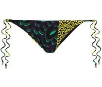 Printed Low-rise Bikini Briefs Black Size I