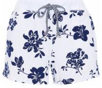 Lucas floral-print cotton-jersey pajama shorts