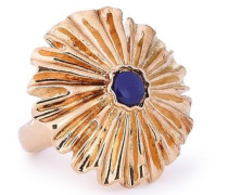 Gold-plated Lapis Lazuli Ring Gold  4