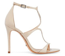 Rania cutout patent-leather sandals