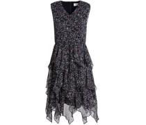 Draped printed georgette dress