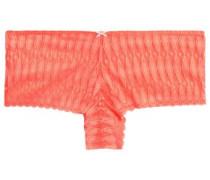 Crocheted lace low-rise briefs