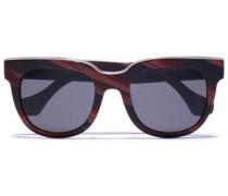 D-frame Acetate Sunglasses Merlot Size --