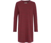 Striped Cotton-jersey Mini Dress Claret Size 1
