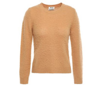 Woman Brushed Wool And Cashmere-blend Sweater Camel