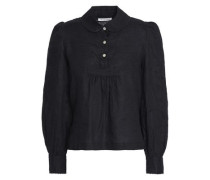 Gathered linen blouse