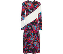 Woman Paneled Floral-print Crepe Midi Dress Multicolor