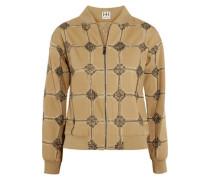 Believe, Belive in Me, Better Me embellished cotton jacket