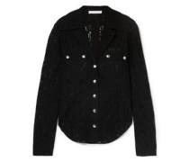 Woman Cotton-blend Lace Blouse Black