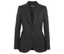 Polka-dot wool blazer