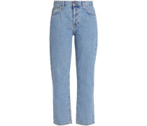 High-rise Straight-leg Jeans Mid Denim  5