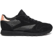 Suede And Rubber Sneakers Black