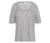 Mélange Linen-jersey T-shirt Stone