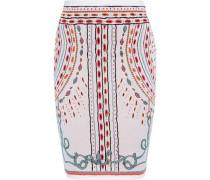 Jacquard-knit Pencil Skirt Blush