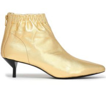Blitz metallic leather ankle boots