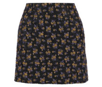 Quilted Jacquard Mini Skirt Black