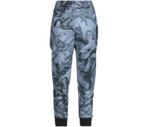 Printed Jersey Track Pants Gray