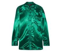Woman Sander Satin Shirt Forest Green